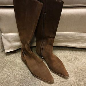 Gucci Brown Suede Pointed Boots